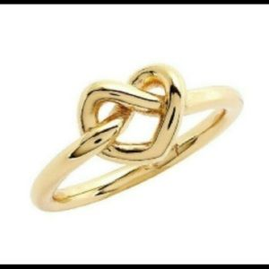 Kate Spade ♠️ New York Gold-Tone Love Knot Ring 7